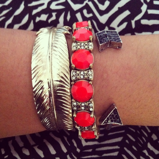 B&W Print Accessorized with Red