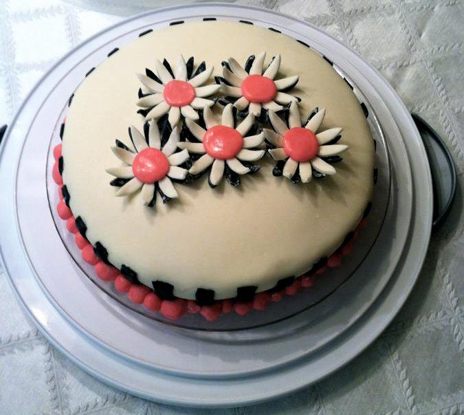 Happy Birthday Homemade White Cake Covered In Fondant The Svara Blog